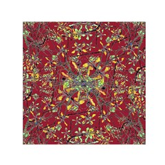 Oriental Floral Print Small Satin Scarf (Square)