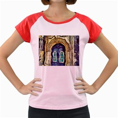 Luebeck Germany Arched Church Doorway Women s Cap Sleeve T-Shirt