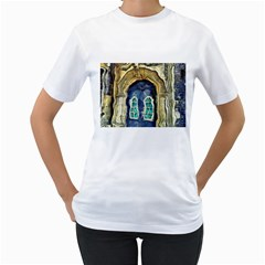 Luebeck Germany Arched Church Doorway Women s T Shirt (white) (two Sided)