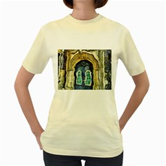 Luebeck Germany Arched Church Doorway Women s Yellow T-Shirt