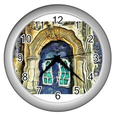 Luebeck Germany Arched Church Doorway Wall Clocks (silver)