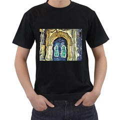 Luebeck Germany Arched Church Doorway Men s T-Shirt (Black) (Two Sided)