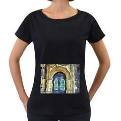 Luebeck Germany Arched Church Doorway Women s Loose-Fit T-Shirt (Black)