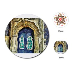 Luebeck Germany Arched Church Doorway Playing Cards (Round)