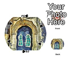 Luebeck Germany Arched Church Doorway Playing Cards 54 (round)