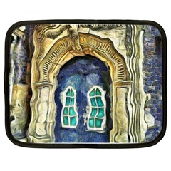 Luebeck Germany Arched Church Doorway Netbook Case (large)