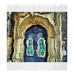 Luebeck Germany Arched Church Doorway Shower Curtain 66  X 72  (large)