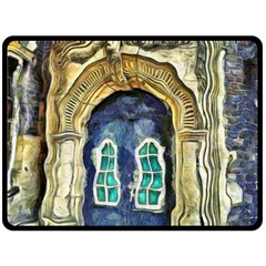 Luebeck Germany Arched Church Doorway Fleece Blanket (Large)