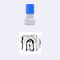 Luebeck Germany Arched Church Doorway Rubber Round Stamps (Small)