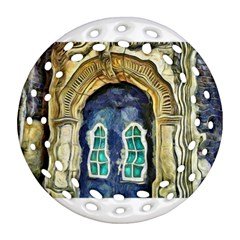 Luebeck Germany Arched Church Doorway Ornament (Round Filigree)