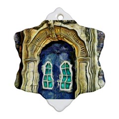 Luebeck Germany Arched Church Doorway Snowflake Ornament (2-Side)