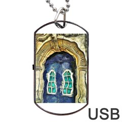 Luebeck Germany Arched Church Doorway Dog Tag USB Flash (One Side)