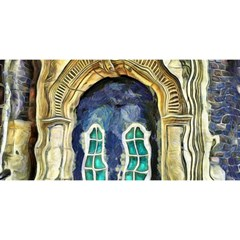 Luebeck Germany Arched Church Doorway YOU ARE INVITED 3D Greeting Card (8x4)