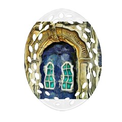 Luebeck Germany Arched Church Doorway Oval Filigree Ornament (2-Side)