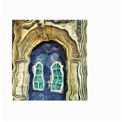 Luebeck Germany Arched Church Doorway Large Garden Flag (two Sides)