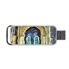 Luebeck Germany Arched Church Doorway Portable Usb Flash (one Side)