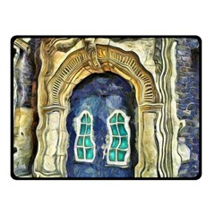 Luebeck Germany Arched Church Doorway Double Sided Fleece Blanket (small)