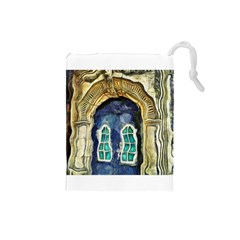 Luebeck Germany Arched Church Doorway Drawstring Pouches (Small)