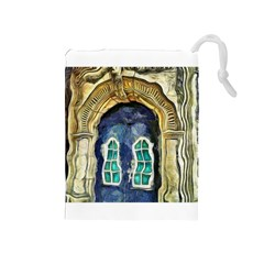 Luebeck Germany Arched Church Doorway Drawstring Pouches (Medium)