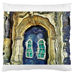 Luebeck Germany Arched Church Doorway Large Flano Cushion Cases (One Side)
