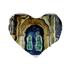 Luebeck Germany Arched Church Doorway Standard 16  Premium Flano Heart Shape Cushions