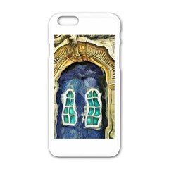 Luebeck Germany Arched Church Doorway Apple iPhone 6 White Enamel Case