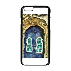 Luebeck Germany Arched Church Doorway Apple Iphone 6 Black Enamel Case