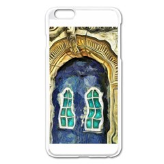 Luebeck Germany Arched Church Doorway Apple Iphone 6 Plus Enamel White Case