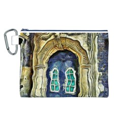 Luebeck Germany Arched Church Doorway Canvas Cosmetic Bag (L)