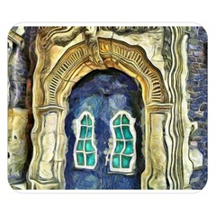 Luebeck Germany Arched Church Doorway Double Sided Flano Blanket (small)