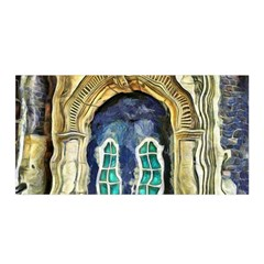 Luebeck Germany Arched Church Doorway Satin Wrap