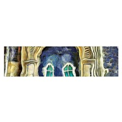Luebeck Germany Arched Church Doorway Satin Scarf (Oblong)