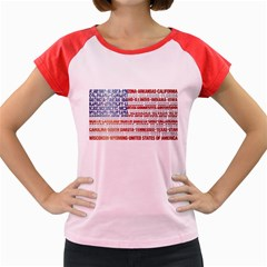 USA States Flag Women s Cap Sleeve T-Shirt