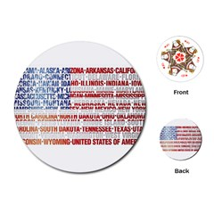 USA States Flag Playing Cards (Round)