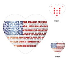 USA States Flag Playing Cards (Heart)