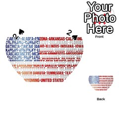 USA States Flag Playing Cards 54 (Heart)