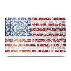 Usa States Flag Plate Mats