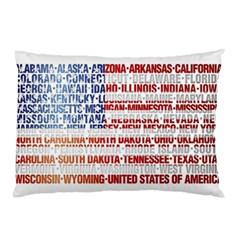 USA States Flag Pillow Cases