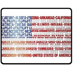 Usa States Flag Fleece Blanket (medium)