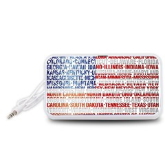 USA States Flag Portable Speaker (White)