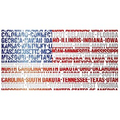 USA States Flag YOU ARE INVITED 3D Greeting Card (8x4)