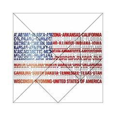 USA States Flag Acrylic Tangram Puzzle (6  x 6 )