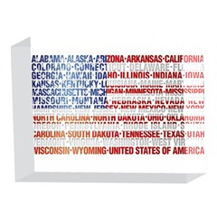 USA States Flag 5 x 7  Acrylic Photo Blocks
