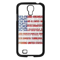 Usa States Flag Samsung Galaxy S4 I9500/ I9505 Case (black)