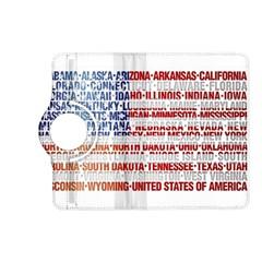 USA States Flag Kindle Fire HD (2013) Flip 360 Case