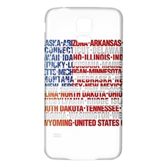 USA States Flag Samsung Galaxy S5 Back Case (White)