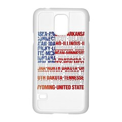 USA States Flag Samsung Galaxy S5 Case (White)