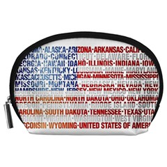 USA States Flag Accessory Pouches (Large)