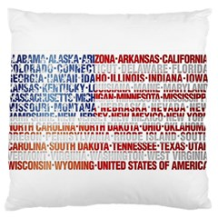 USA States Flag Standard Flano Cushion Cases (Two Sides)