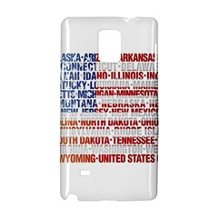 USA States Flag Samsung Galaxy Note 4 Hardshell Case